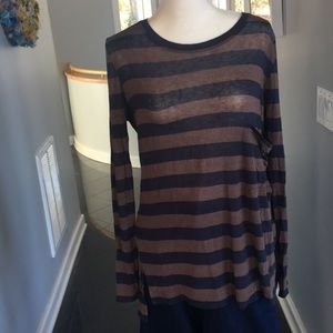 BCBG Max Azria Striped Tunic Shirt